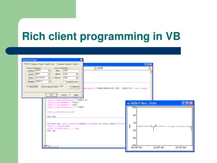 Rich client programming in VB