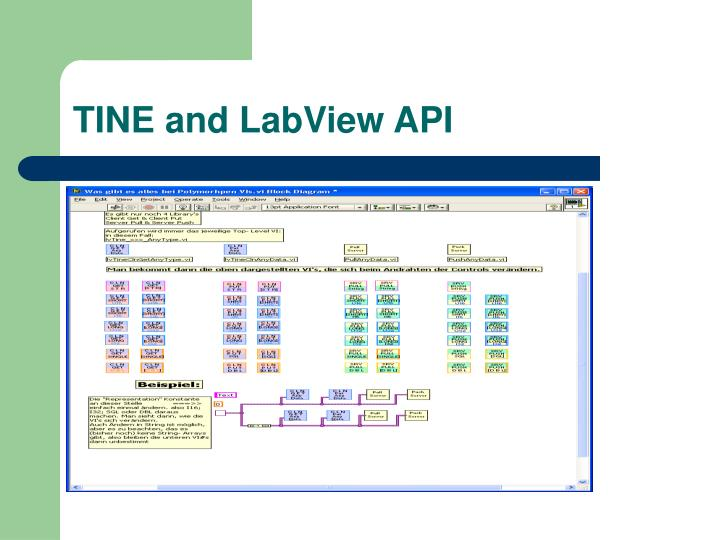 TINE and LabView API
