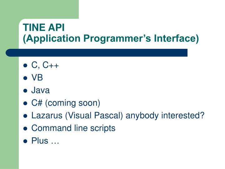 TINE API