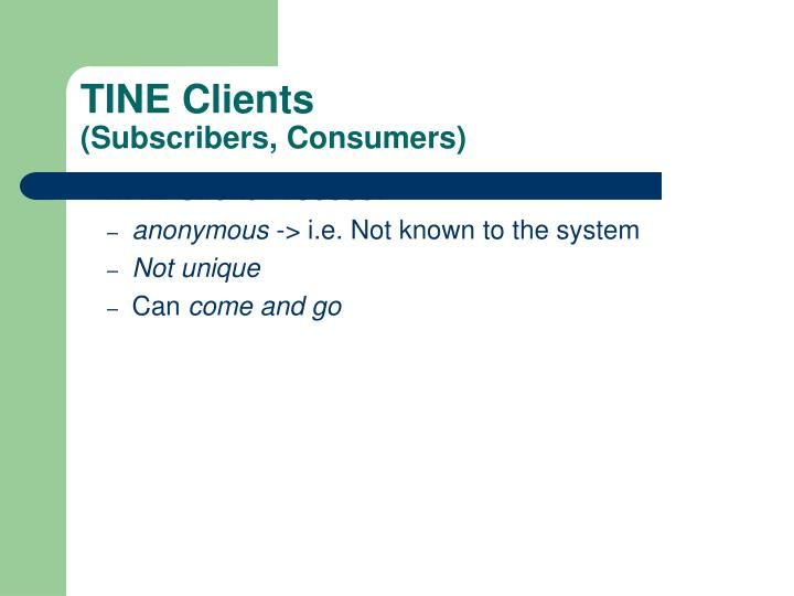 TINE Clients