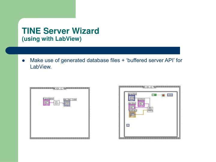 TINE Server Wizard