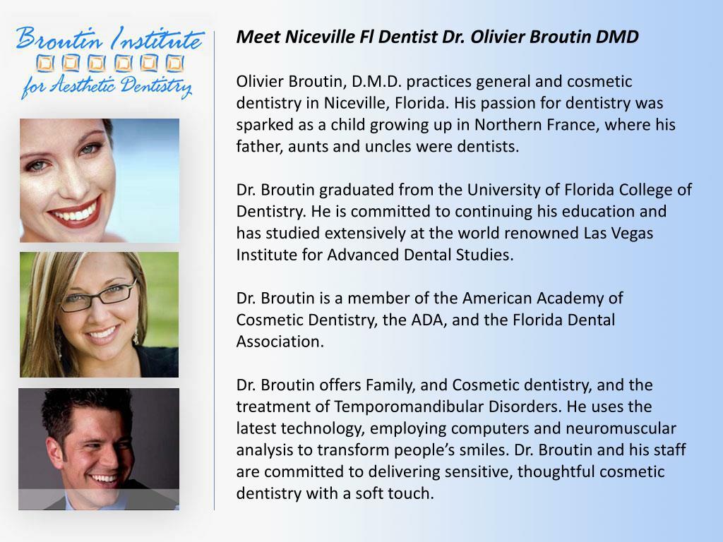 Meet Niceville Fl Dentist Dr. Olivier Broutin DMD
