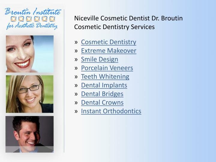 Niceville Cosmetic Dentist Dr.