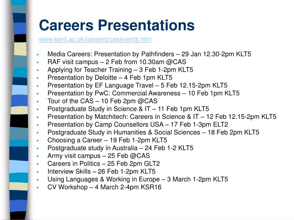 Careers Presentations