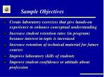 sample objectives