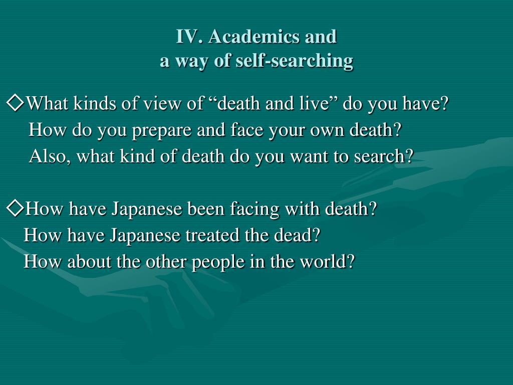 IV. Academics and