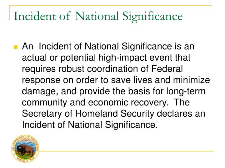 Incident of National Significance