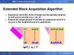 extended block acquisition algorithm