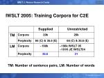 iwslt 2005 training corpora for c2e