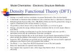 density functional theory dft