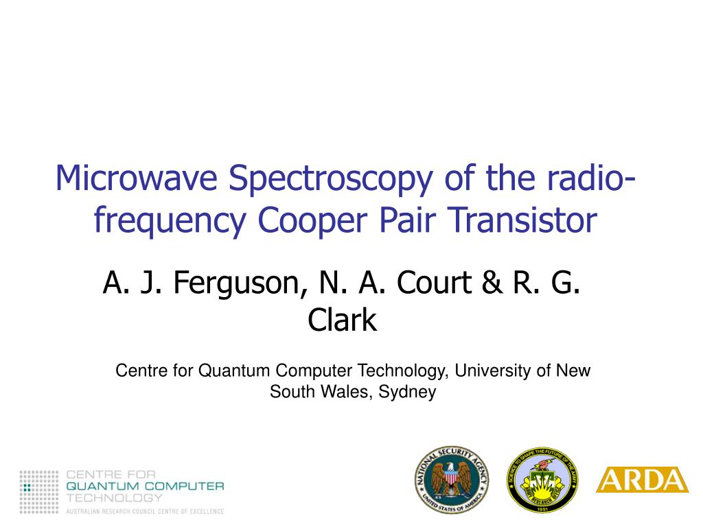 microwave spectroscopy of the radio frequency cooper pair transistor l.
