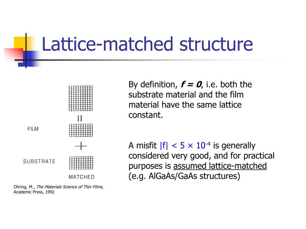 Lattice-matched structure