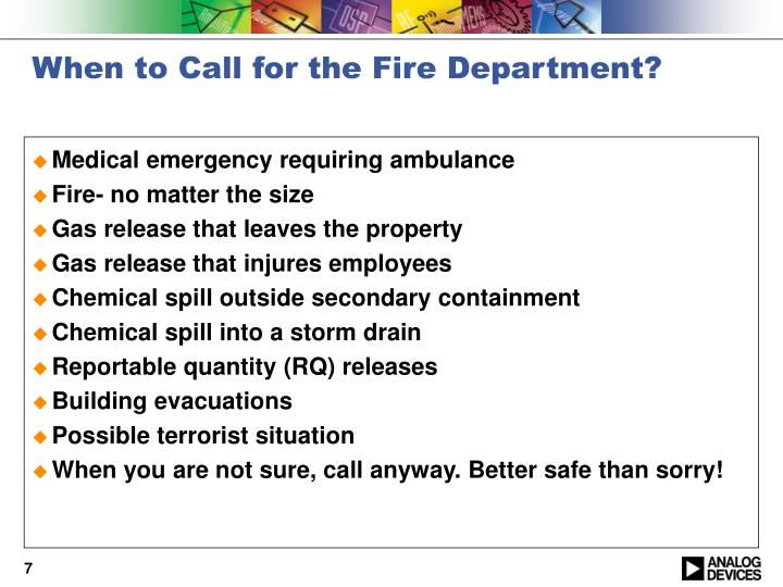 When to Call for the Fire Department?