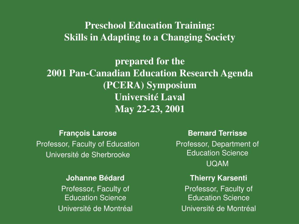 Preschool Education Training: