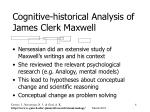 cognitive historical analysis of james clerk maxwell