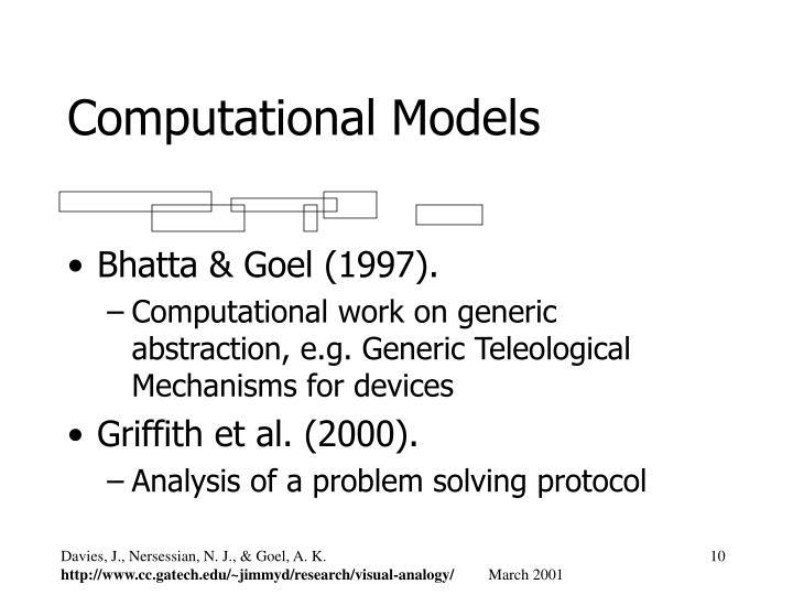 Computational Models