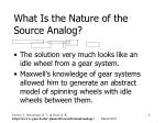 what is the nature of the source analog