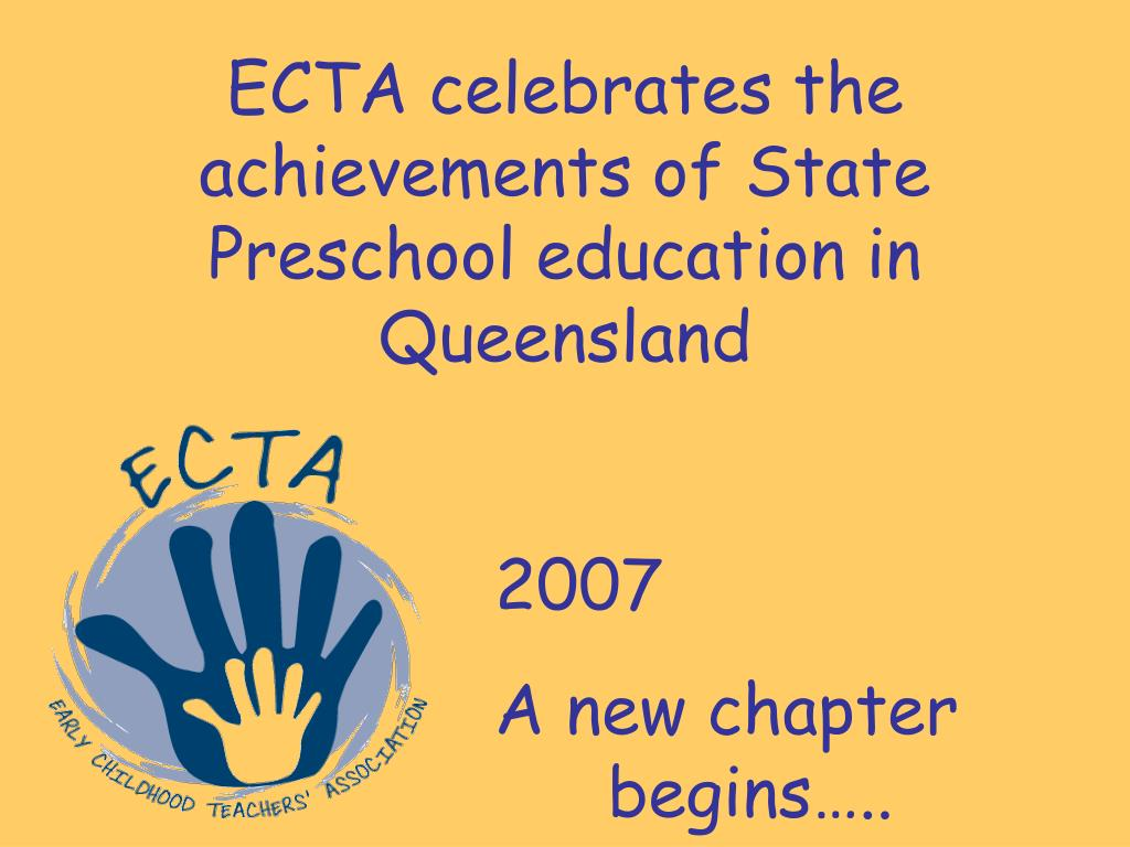 ECTA celebrates the achievements of State Preschool education in Queensland