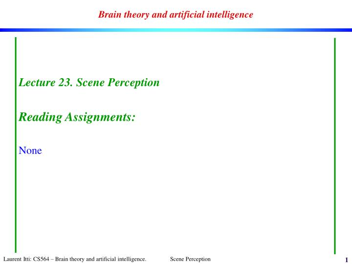 brain theory and artificial intelligence n.