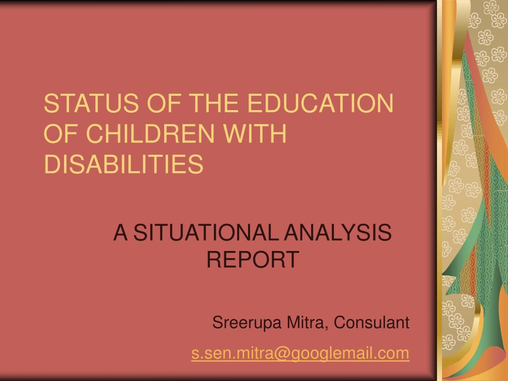 status of the education of children with disabilities l.