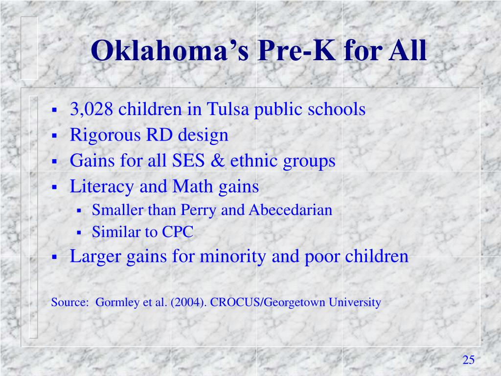 Oklahoma's Pre-K for All
