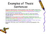 examples of thesis sentences
