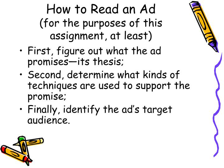 How to Read an Ad