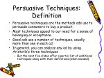 persuasive techniques definition
