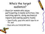 who s the target audience