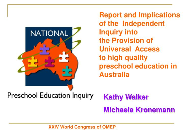 Report and Implications of the Independent Inquiry into theProvision of  Universal  Access toh...
