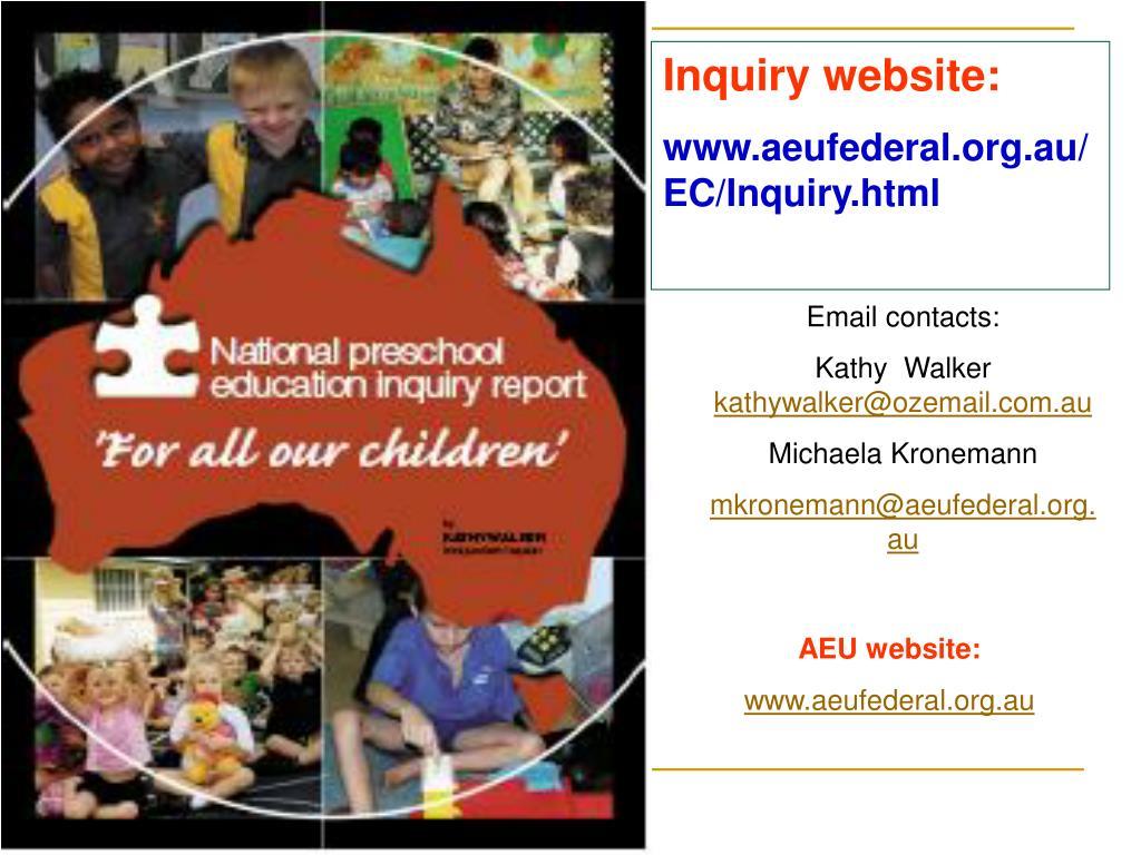 Inquiry website: