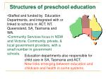 structures of preschool education