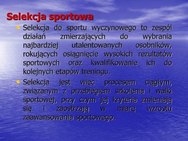 Selekcja sportowa