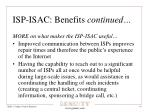 isp isac benefits continued1