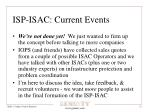 isp isac current events
