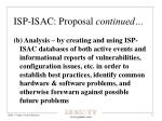isp isac proposal continued1
