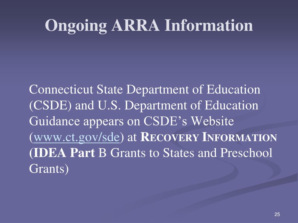 Ongoing ARRA Information