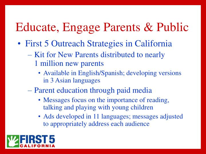 the importance of parent engagement to education Abstract the aim of this research is look at parental involvement in their child's education how parents get involved and how this is beneficial to children.