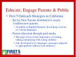 educate engage parents public