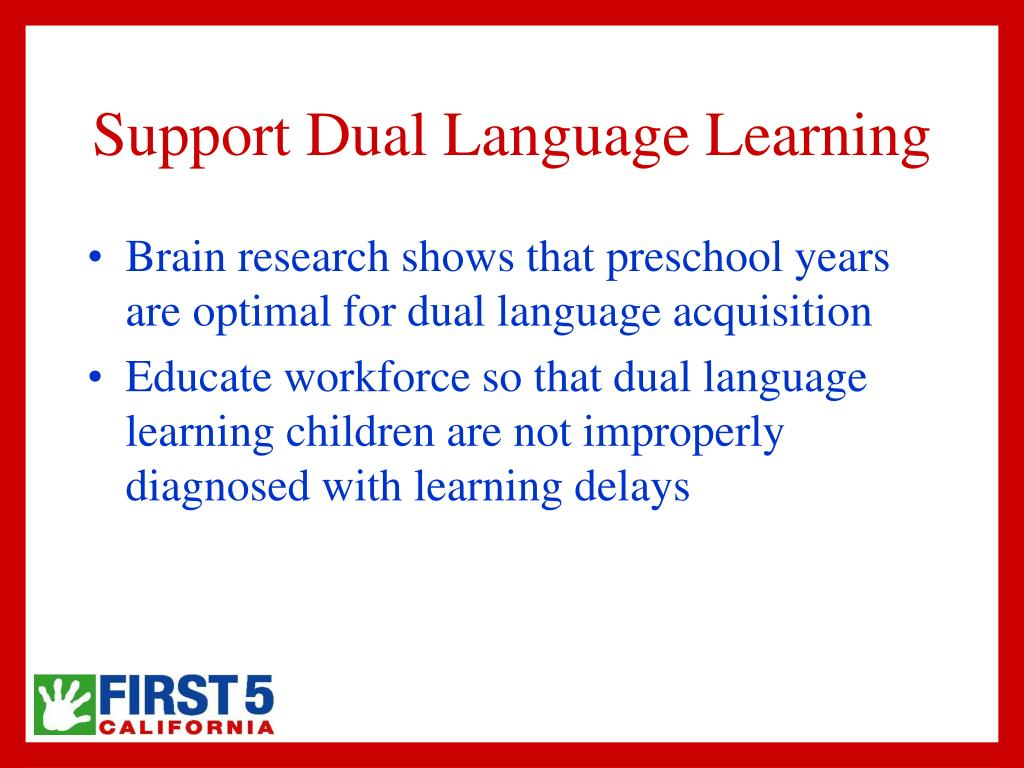 Support Dual Language Learning