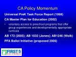 ca policy momentum