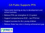 ca public supports pfa