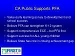 ca public supports pfa