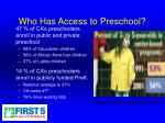 who has access to preschool