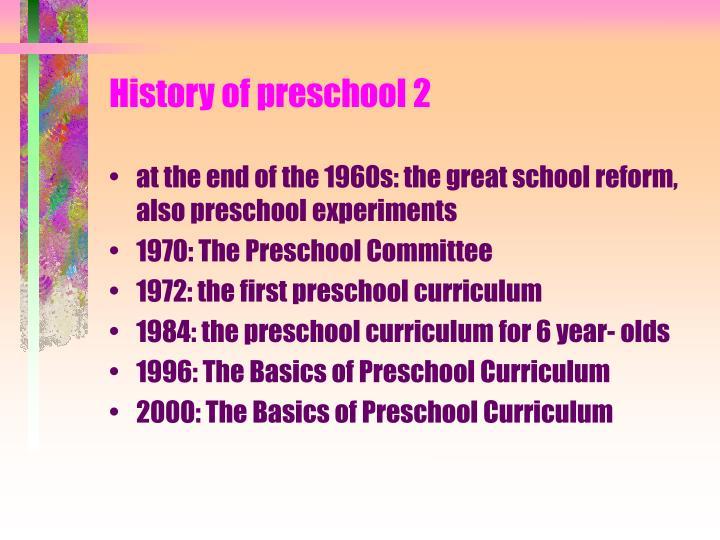 History of preschool 2