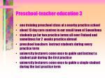 preschool teacher education 3