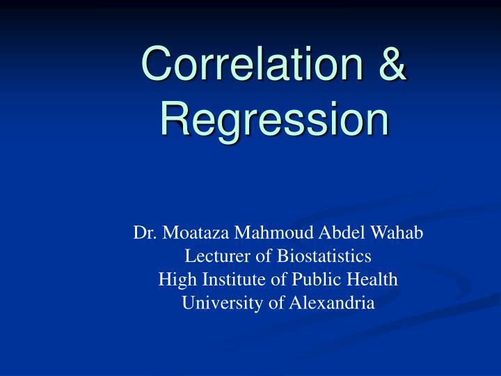 Correlation regression