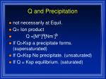 q and precipitation