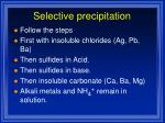 selective precipitation1