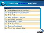 part b spp compliance indicators